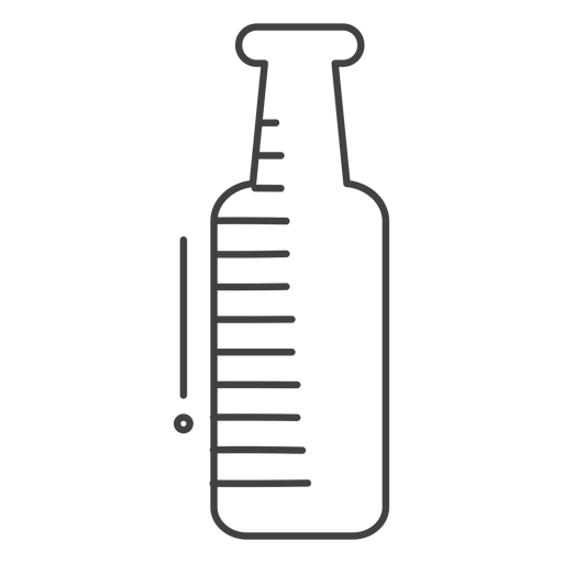Botella de bebida de trazo de icono Transparent PNG