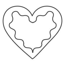 Icon stroke gingerbread heart