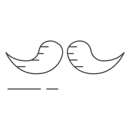 Icon stroke moustache