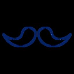 Diseño de bigote de trazo de icono