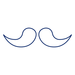 Icon stroke moustache design