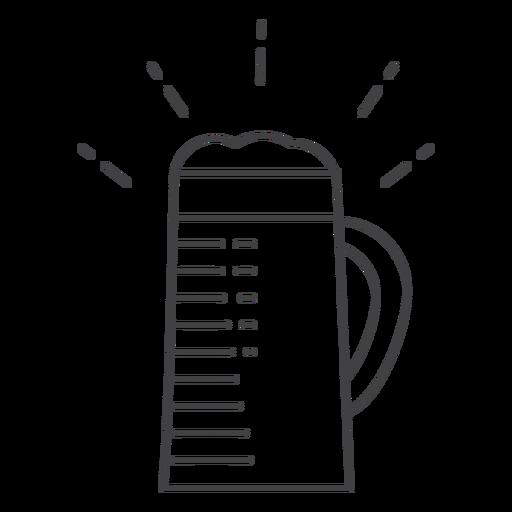 Icon stroke mug beer
