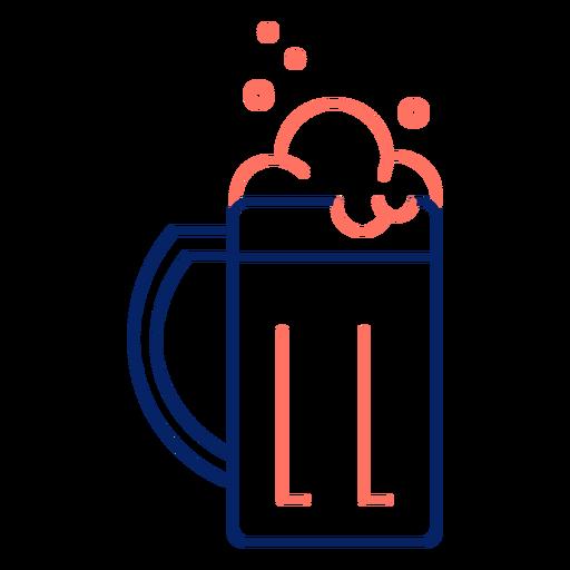 Icon stroke mug beer color