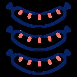 Salchichas de trazo de icono