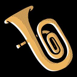 Trompeta de trazo de icono