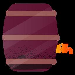 Illustration beer keg barrel