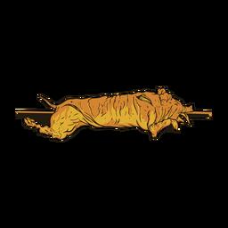 Ilustración de cerdo frito
