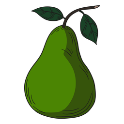 Illustration green pear