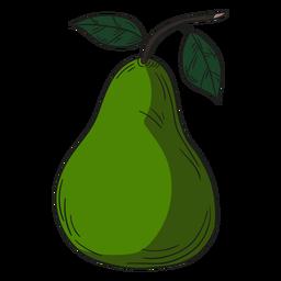 Ilustración pera verde