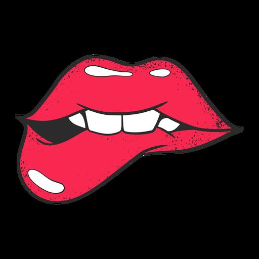 Lábios de ilustração