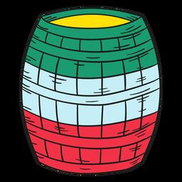 Barril de mexicano de ilustração