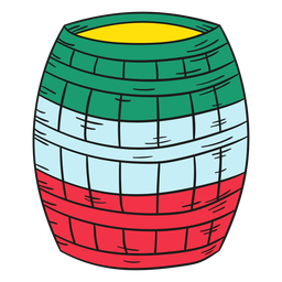 Ilustración barril mexicano