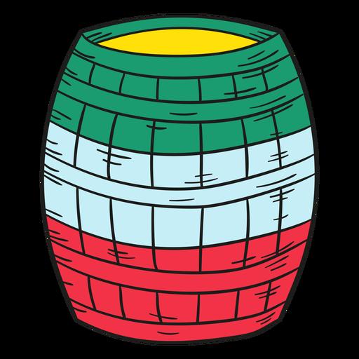 Ilustración barril mexicano Transparent PNG