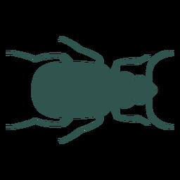 Insecto silueta error