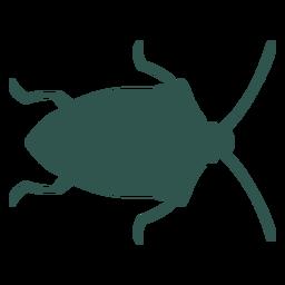 Inseto silhueta bug verde