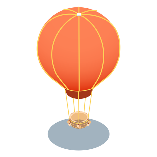 Aerostato de transporte isométrico Transparent PNG