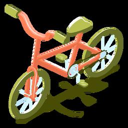 Bicicleta de transporte isométrica