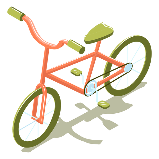 Isometric transport bike Transparent PNG