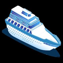 Isometrischer Transport blaues Schiff