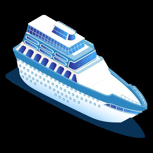 Isometric transport blue ship Transparent PNG
