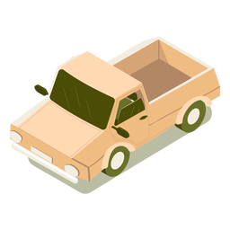 Isometrisches Transportauto