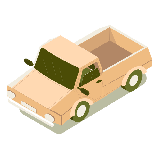 Isometric transport car Transparent PNG