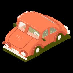 Isometrisches Transportauto rot