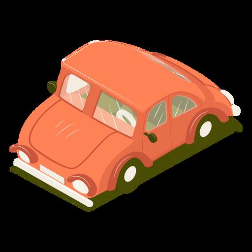 Carro isométrico de transporte rojo Transparent PNG