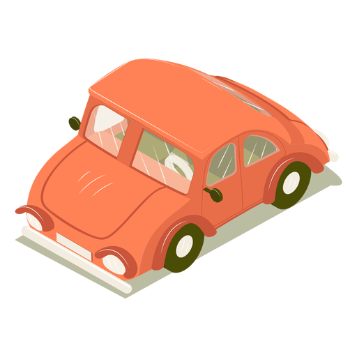Isometric transport car red Transparent PNG
