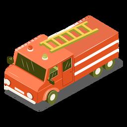 Carro de bombeiros isométrico de transporte