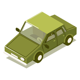 Isometric transport green car