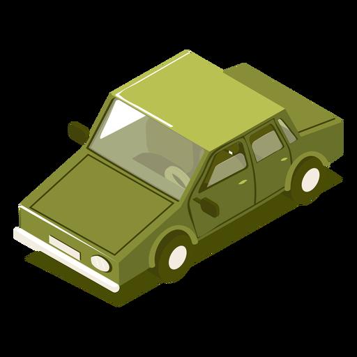 Isometric transport green car Transparent PNG