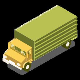 Camión verde de transporte isométrico