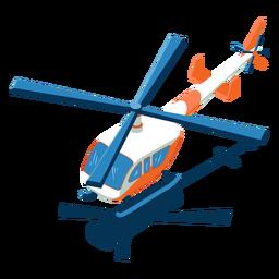 Helicóptero de transporte isométrico