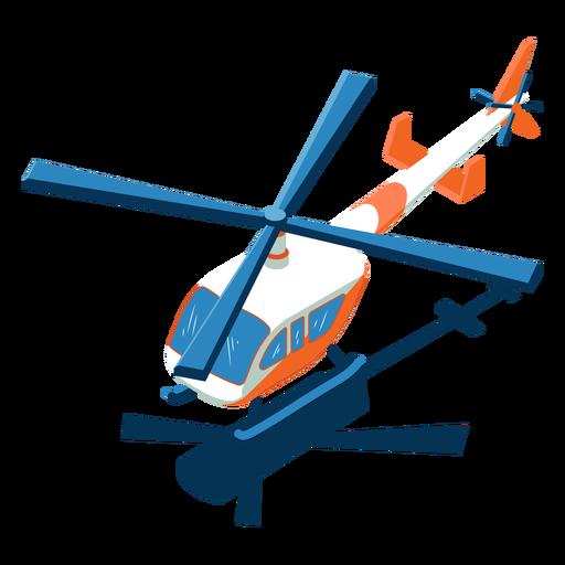 Helicóptero de transporte isométrico Transparent PNG