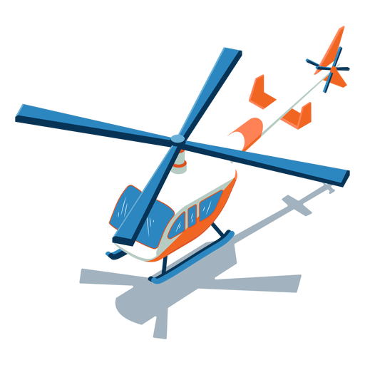 Isometric transport helicopter Transparent PNG