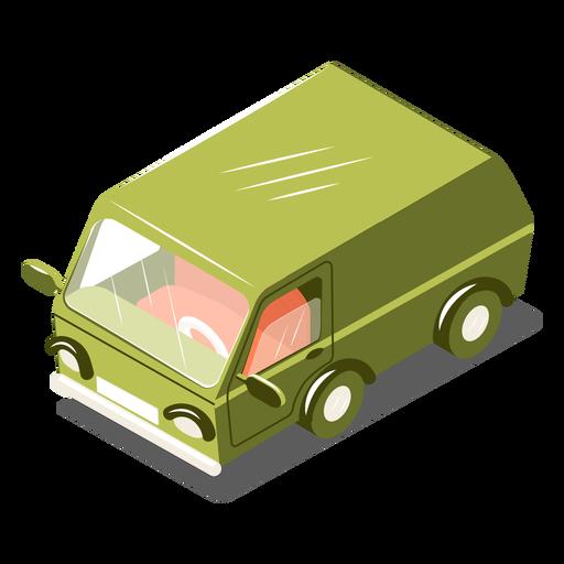 Minibús de transporte isométrico Transparent PNG