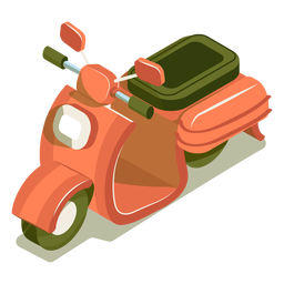 Isometrisches Transportmotorrad