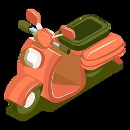 Moto de transporte isométrica