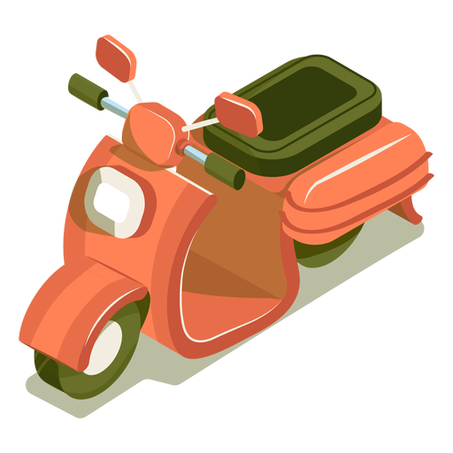Isometric transport motorbike Transparent PNG