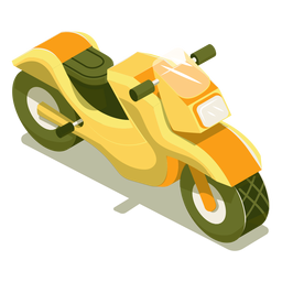 Motocicleta de transporte isométrico
