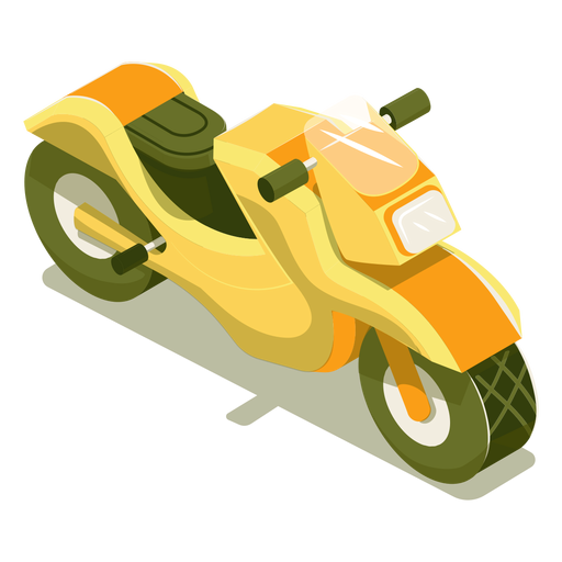 Motocicleta de transporte isométrico Transparent PNG