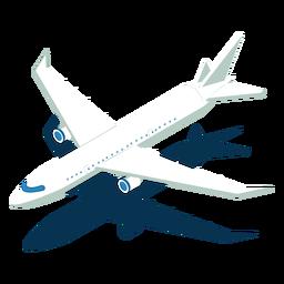 Avião de transporte isométrico