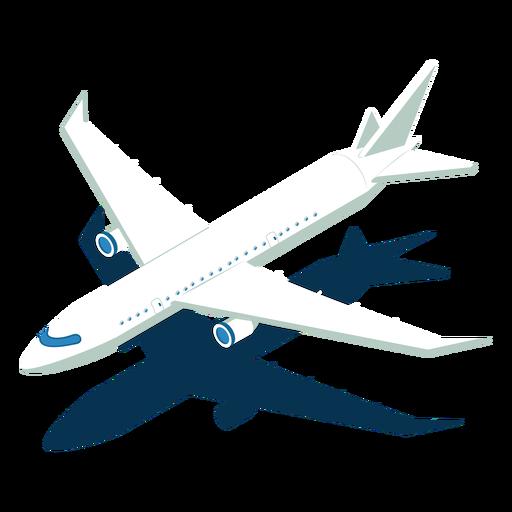 Avión de transporte isométrico