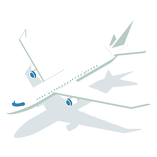 Isometric transport plane Transparent PNG