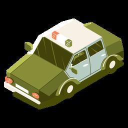 Carro de polícia de transporte isométrico