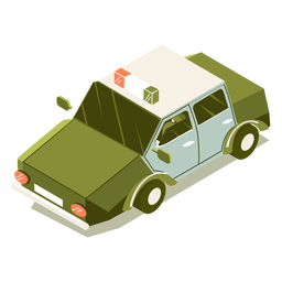 Isometric transport police car