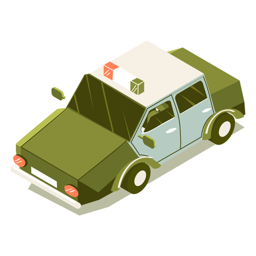 Isometric transport police car Transparent PNG