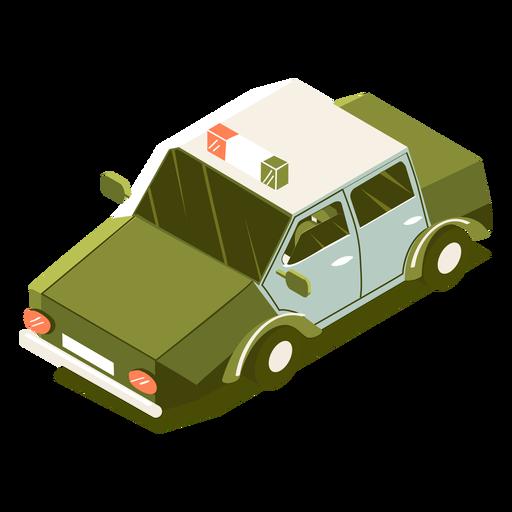Vehículo policial de transporte isométrico Transparent PNG