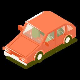 Carro isométrico de transporte vermelho